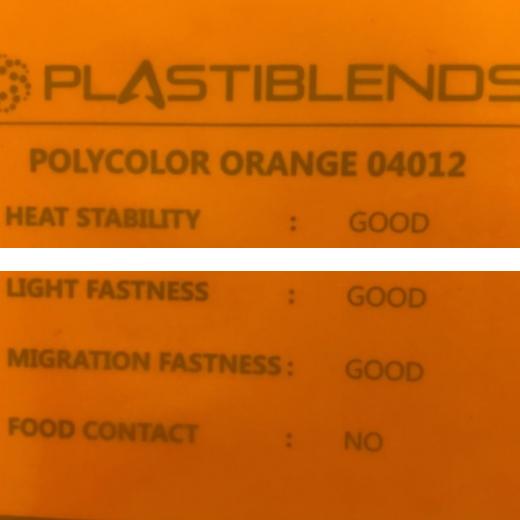 Суперконцентрат красителя оранжевый (MASTERBATCH POLYCOLOR ORANGE 04012)