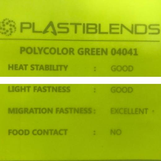 Суперконцентрат красителя зеленый (MASTERBATCH POLYCOLOR  GREEN 04041)