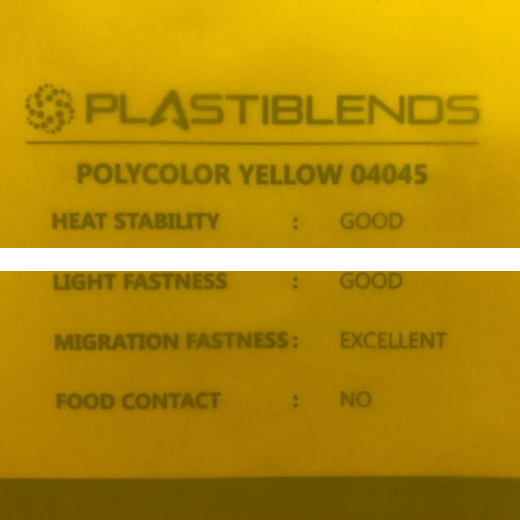 Мастербатч желтый (MASTERBATCH POLYCOLOR YELLOW 04045)