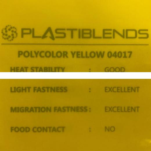 Мастербатч желтый (MASTERBATCH POLYCOLOR YELLOW 04017)
